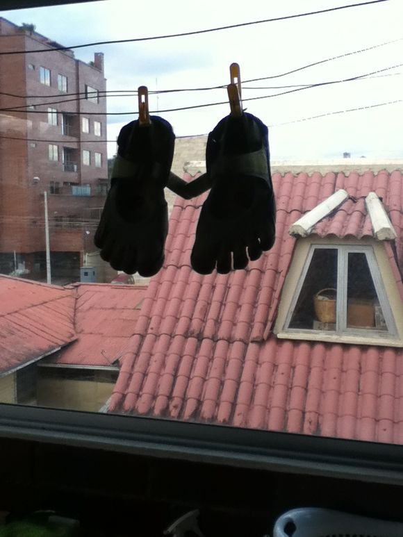"Hanging my ""feet"" to dry"